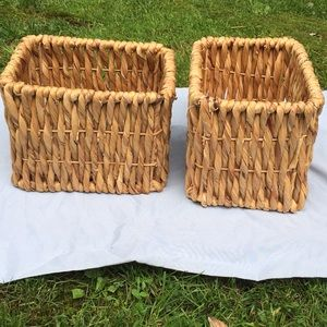 Other - Two New Matching Wicker Baskets